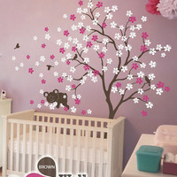 "Baby Nursery Wall Decals - Tree Wall Decal - Koala Decal - Large: approx 85"" x 76"" - KC013"
