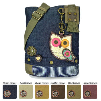 Chala Patch Crossbody Bag+ Coin Purse (Color Owl)