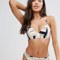 Zulu & Zephyr Patio Stripe Cupped Bikini at asos.com