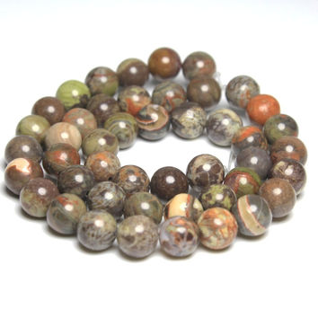 New AAA+ Quality Ocean Jasper Natural Stone Round Loose Beads For jewelry Making Agate 4 6 8 10 12MM Bracelet Strand DIY