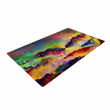 "Ebi Emporium ""It's A Rose Colored Life 4"" Yellow Red Woven Area Rug"