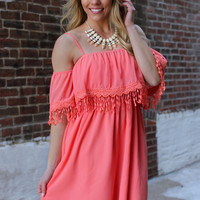 Save the Date Dress - Coral