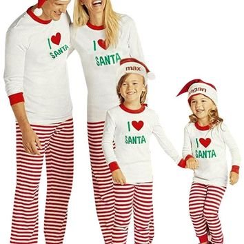Children Adult Matching Family Pajamas Sets Christmas Pajamas Sleepwear Outfit