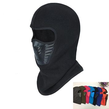 High Quality Winter Bicycle Windproof Motorcycle Face Mask Hat Neck Helmet Cap Sports Thermal Fleece Balaclava Hat For Men Women