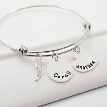 Remembrance Bracelet | Personalized Adjustable Stackable Bangle Bracelet | Family Jewelry