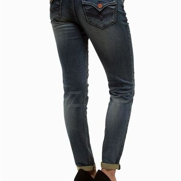 Hydraulic Jegging Roll Up Knit Jeans