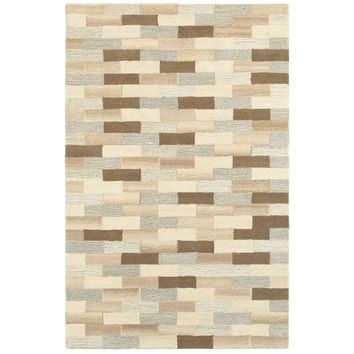 Oriental Weavers Infused 67006 Beige/ Grey Geometric Area Rug