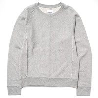 Crew Neck Sweat Shirt Gray