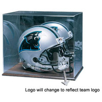 Miami Dolphins NFL Full Size Football Helmet Display Case (Wood Finish)