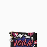 on purpose voila beaded clutch