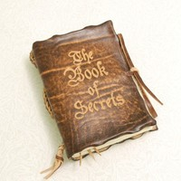 The Book of SecretsBrown  Leather Journal by GILDBookbinders