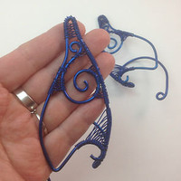 ❤ dArK bLuE eLf eaRs ❤ eLf ❤ FaEry cHiC ❤ LaRp ❤ hANdcRafTEd 4 FaiRiEs ❤