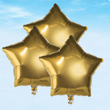 "Bulk Gold Star Foil Balloons, 18"" at DollarTree.com"