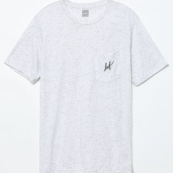 HUF Script Nepp Pocket Oatmeal T-Shirt - Mens Tee - White
