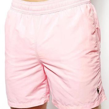 Polo Ralph Lauren Pink Hawaiian Swim Shorts Exclusive For ASOS