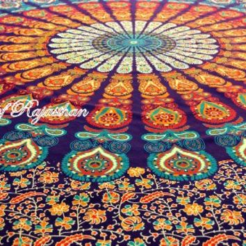 Rajasthali Colors of Rajasthan Mandala Multi Purpose Cloth, 95 x 85 Inch