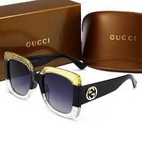 GUCCI  Unique cute cool sunglasses B-HWYMSH-YJ Yellow