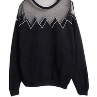 L&C Urban Mesh Detail Sweater