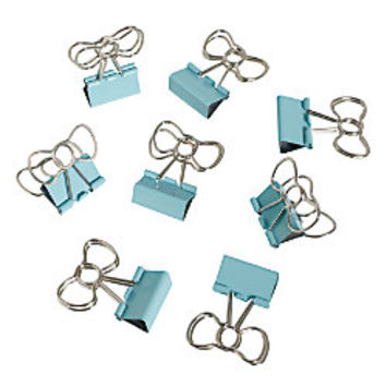 See Jane Work Binder Clips Bow Clips Blue Pack Of 8 by Office Depot