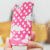 apple iphone case : pink polka dots