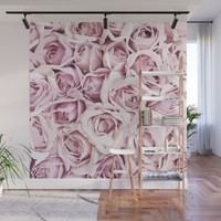 Blush Roses Wall Mural by allisone