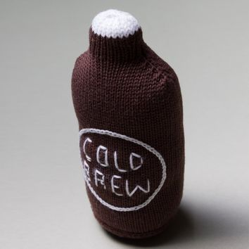 Organic Cotton Cold Brew Coffee Rattle Baby Toy