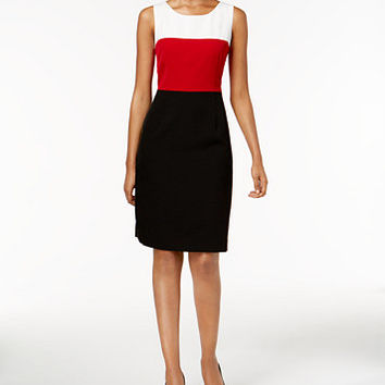 Kasper Colorblocked Sheath Dress | macys.com