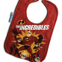 The Incredibles Bib Baby Shower Gift Upcycled Bib