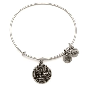 Positive Is How I Live Charm Bangle