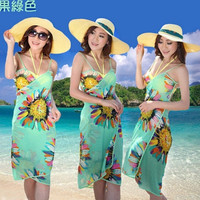 Womens Gift Hot New spring autumn summer new lady large scarves chiffon dress beach smock towels shawls = 5657577665
