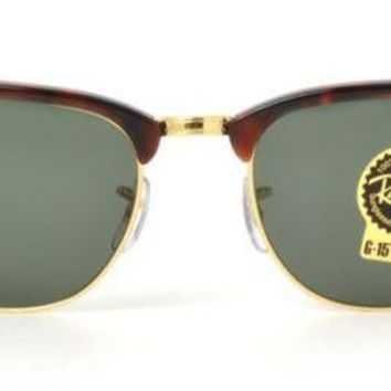 Cheap RayBan Ray-Ban ClubMaster Tortoise Frame G-15 Lens RB 3016 W0366 51MM NEW outlet