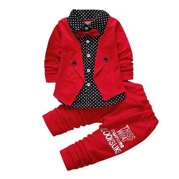 Red baby boy suit