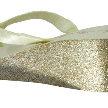 2 inch Wedding Glitter Wedges  - Ivory & Gold or choose colors - best selection price, size and colors