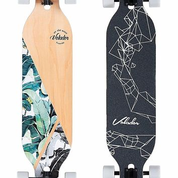 Volador 42inch Freeride Longboard ( Drop Through Camber Deck ) Banana tree