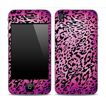 Hot Pink Vector Leopard Animal Print Skin for the iPhone 3gs, 4/4s, 5, 5s or 5c