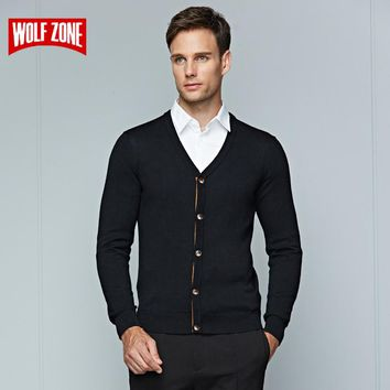 Winter Sweater Men for  Clothing Long Sleeve  Cardigans Men Business Casual Knitting V-neck Sweaters