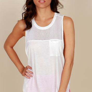 No Meshin' Around Sleeveless Top White