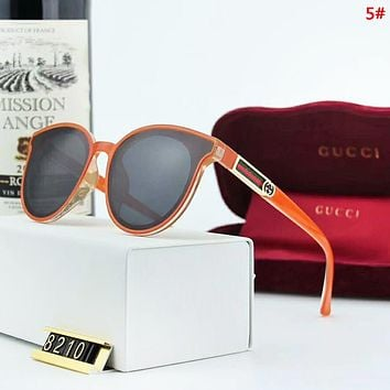 GUCCI Sunscreen Travel New Fashion Polarized Stripe Women Men Glasses Eyeglasses 5#