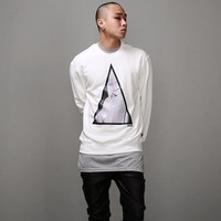 Mens G. Triangle Printed Sweatshirt at Fabrixquare