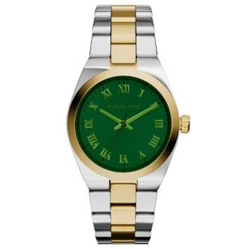 Michael Kors Channing Green Dial Two-tone Unisex Watch MK5991