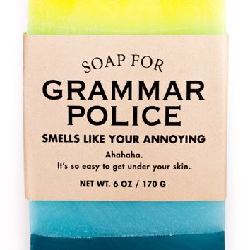 Grammar Police Jelly Donut Scented Soap - Smells Like Your Annoying