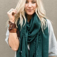 Big Sur Blanket Scarf - Forest Green