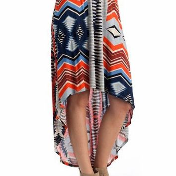 tribal high-low skirt $29.40 in MUSTARDBRN RUSTNAVY - Tribal | GoJane.com