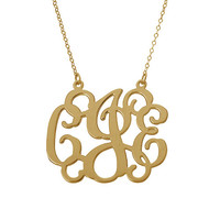 Monogram necklace1 inch - 925 Sterling silver - 18k Gold Plated