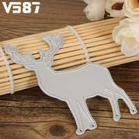 Christmas Elk Cutting Dies Stencil Template DIY Scrapbooking Album Paper Card Handmade Decorative Crafts Accessories