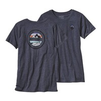 Patagonia Women's Rivet Logo Cotton/Poly Crew T-Shirt | Navy Blue