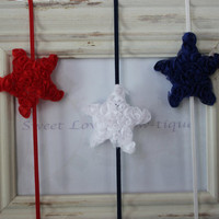Fourth of July/Memorial Day Shabby Chic baby by SweetLovesBowtique