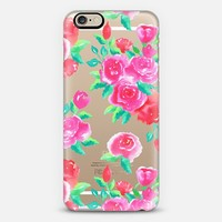 PINK ROSES - Watercolor Roses Pink Red Hand-Painted Floral Girly Pretty iPhone 6 case by Anneline Sophia | Casetify