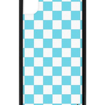 Blue Checkers iPhone Xr Case