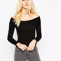 ASOS The Off Shoulder Body With Long Sleeves